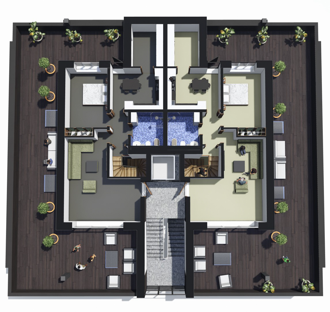 Penthouse 2nd floor