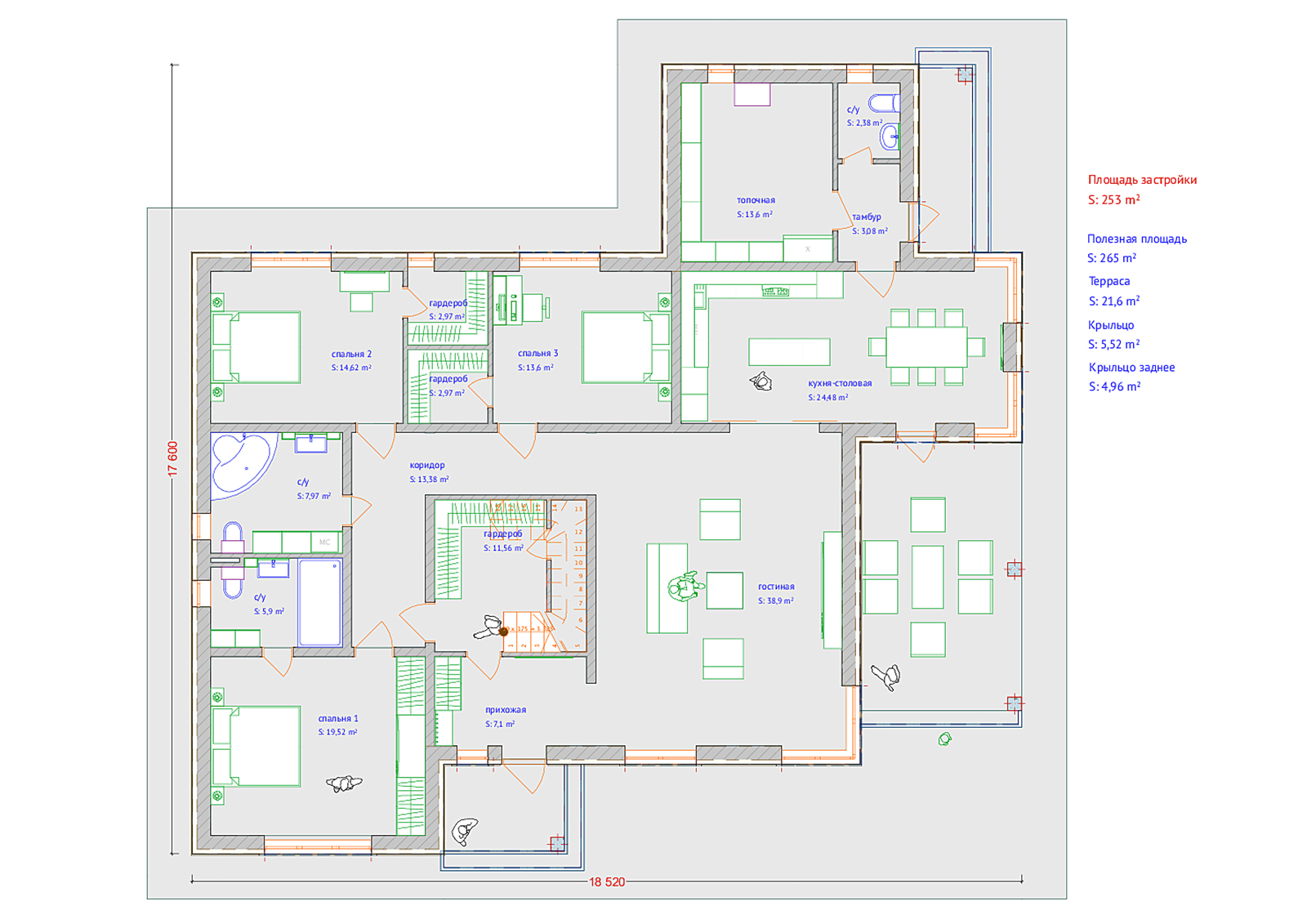 План 1-й этаж